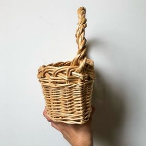 Other - Wall Half-Circle Wicker Basket